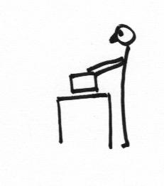 Wasmand op tafeltje